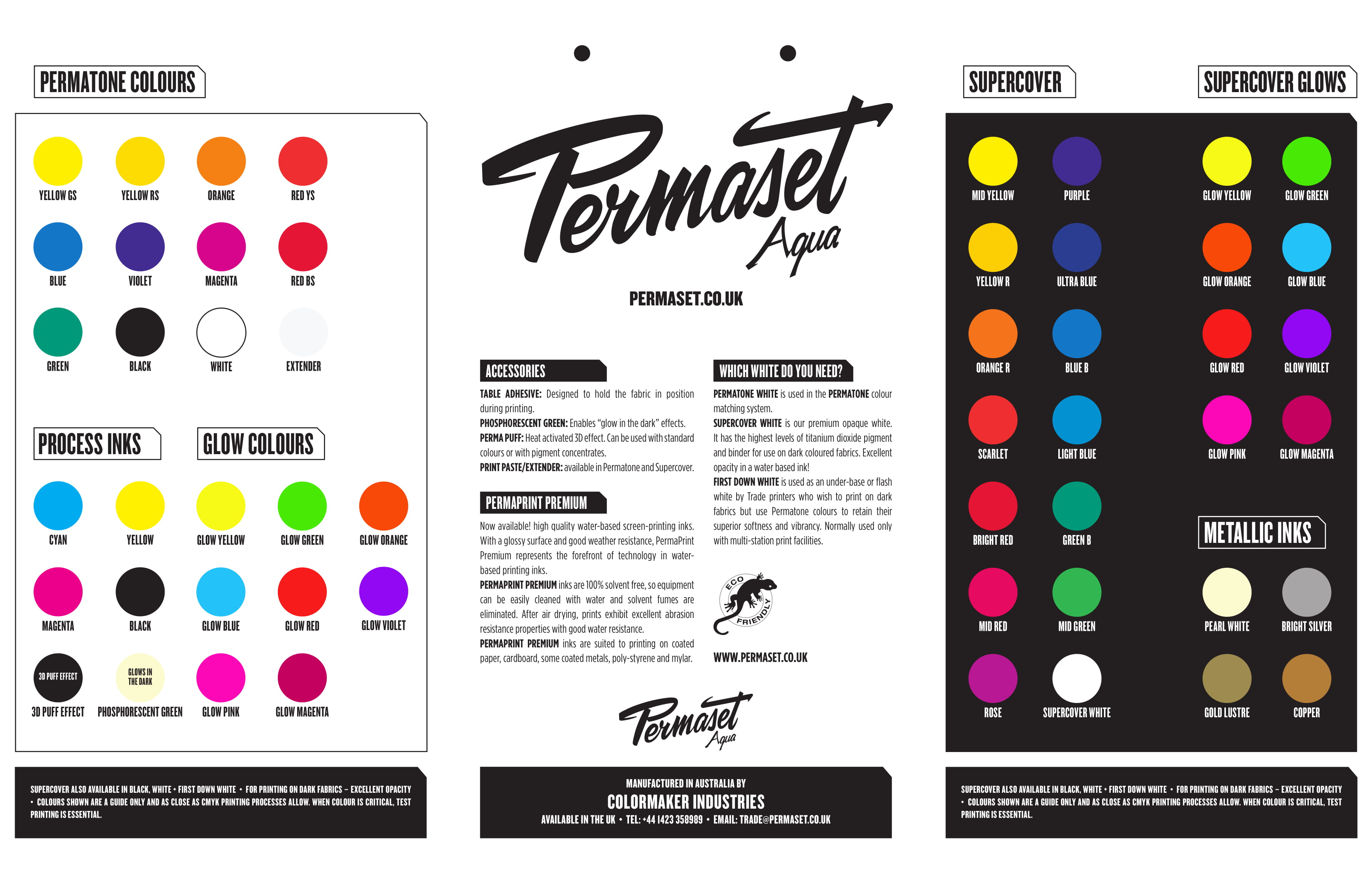 Permaset Aqua Colour Leaflet
